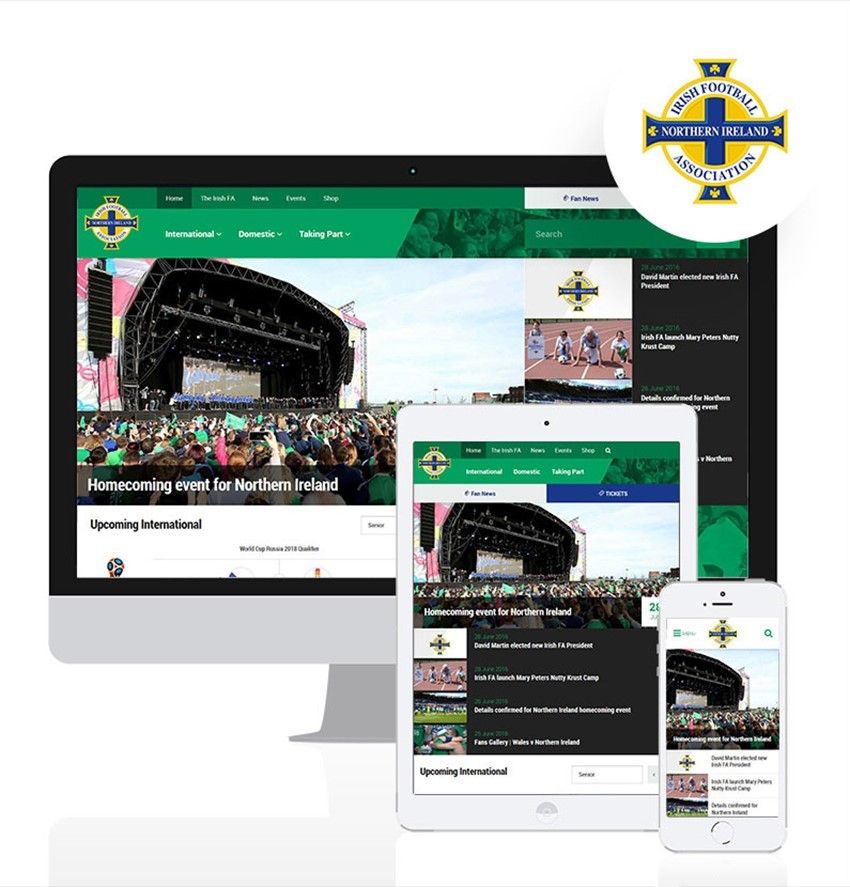 Irish FA Website Kicks Off